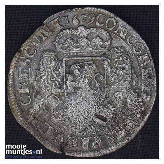 Kampen - Zilveren rijder of dukaton - 1679 (kant A)