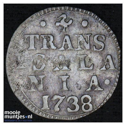 Overijssel - Dubbele stuiver - 1619 (kant A)