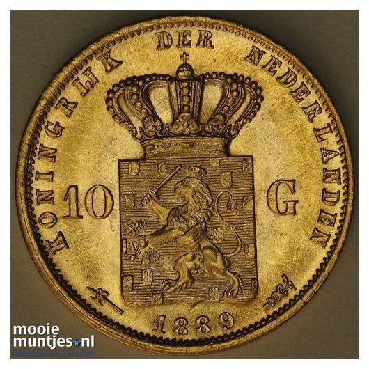 10 gulden - Willem III - 1875 (kant A)