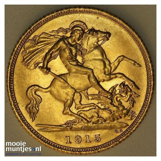 1/2 sovereign - Great Britain 1915 (KM 819) (kant A)