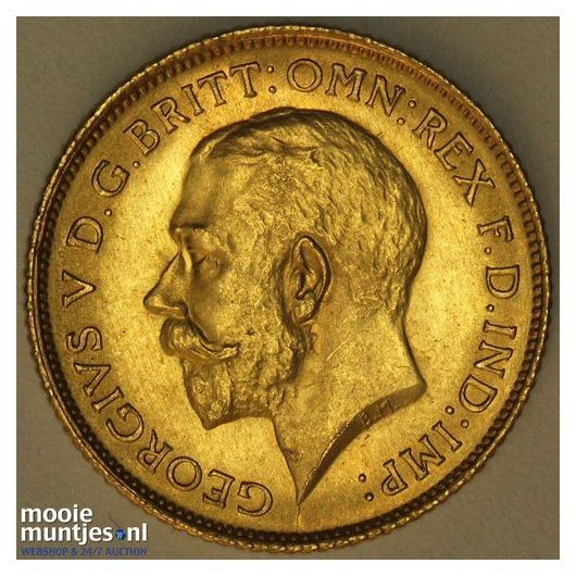 1/2 sovereign - Great Britain 1915 (KM 819) (kant B)