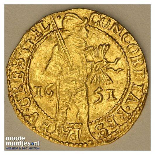 Gelderland - Gouden dukaat - 1651 (kant A)