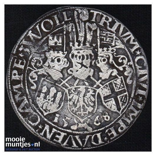 Driesteden - Gehelmde rijksdaalder   - 1568 (kant A)