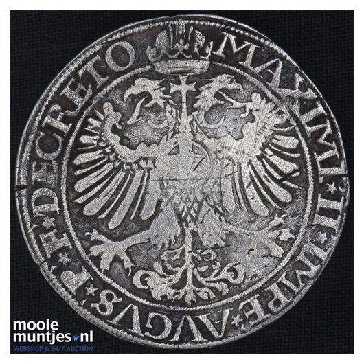 Driesteden - Gehelmde rijksdaalder   - 1568 (kant B)