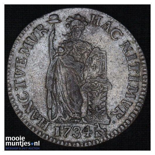 Gelderland - Gulden - 1734 (kant A)