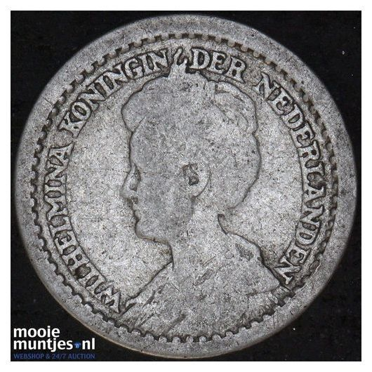 10 cent - Wilhelmina - 1912 a (hoge kroon) (kant B)