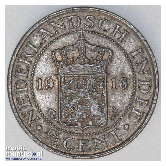 Nederlands-Indië - ½ cent - 1916 (kant A)