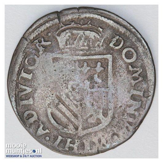 Brabant-Maastricht - Achtste stuiver of duit van 6 mijten - 1588 (kant B)
