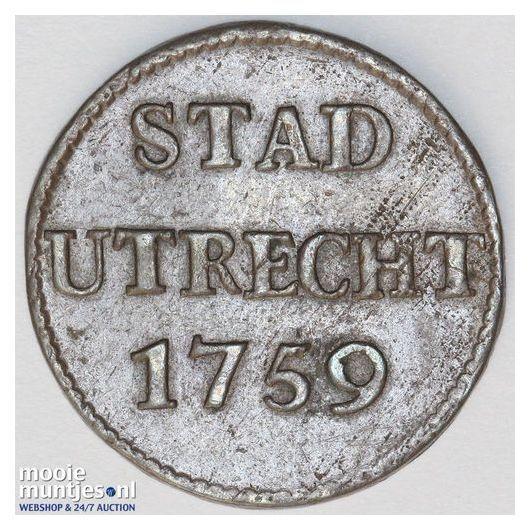Stad Utrecht - Duit - 1759 (kant A)