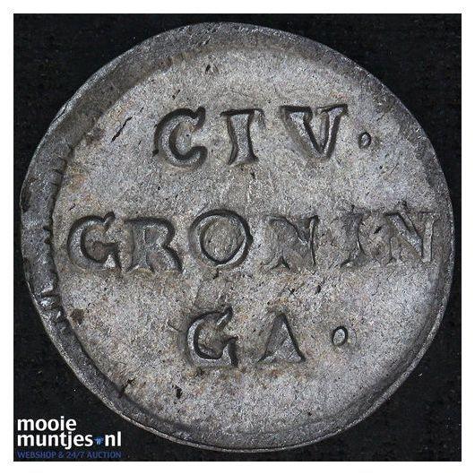 Stad Groningen - Duit - 1772 (kant B)
