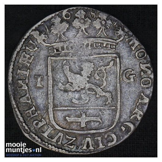 Zwolle - Zilveren rijder of dukaton - 1659 (kant A)