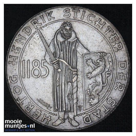 1 gulden - Wilhelmina - 1935 (kant B)