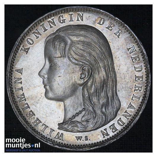 1 gulden - Wilhelmina - 1892 (kant B)