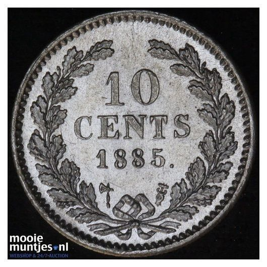 10 cent - Willem III - 1885 (kant A)