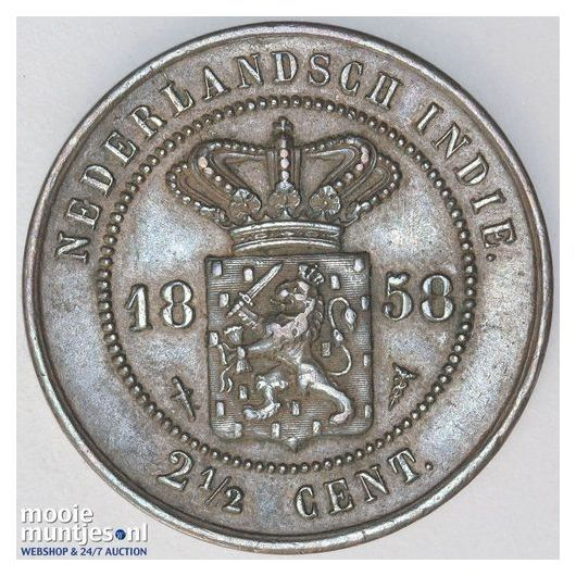 Nederlands-Indië - 2½ cent - 1858 (kant A)
