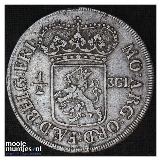 Friesland - Nederlandse halve driegulden - 1696 (kant B)