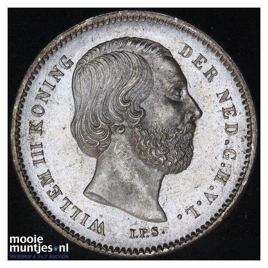 25 cent - Willem III - 1890 a (kant B)