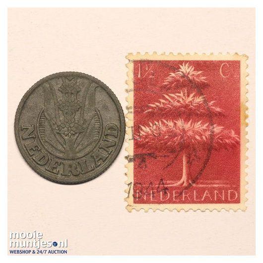 10 cent - Wilhelmina - 1941 driekruinenboom (kant A)