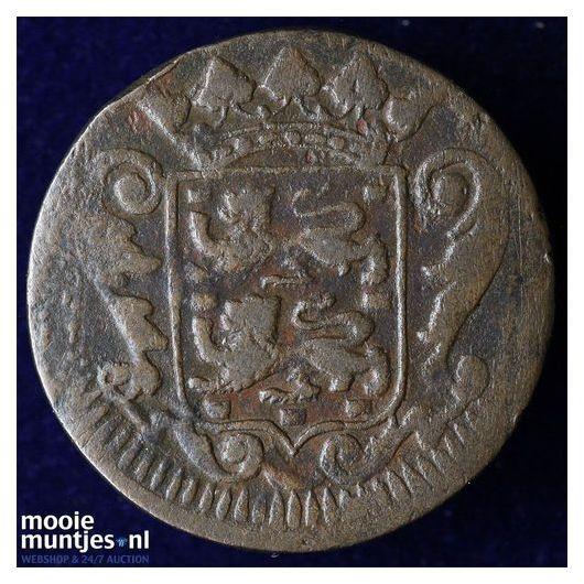 Friesland - Duit - 1717 (kant B)