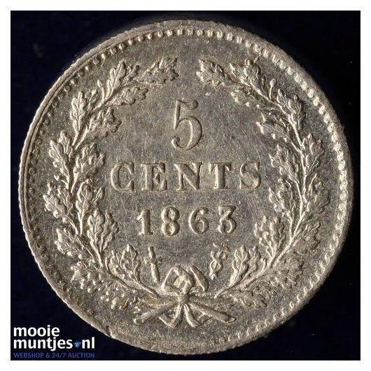 5 cent - Willem III - 1862 (kant A)