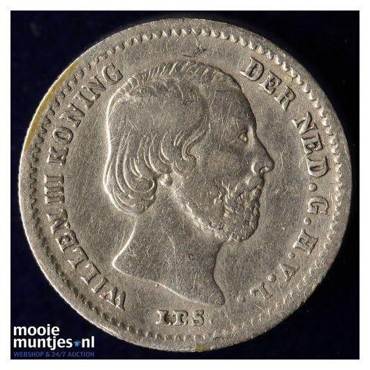 5 cent - Willem III - 1862 (kant B)