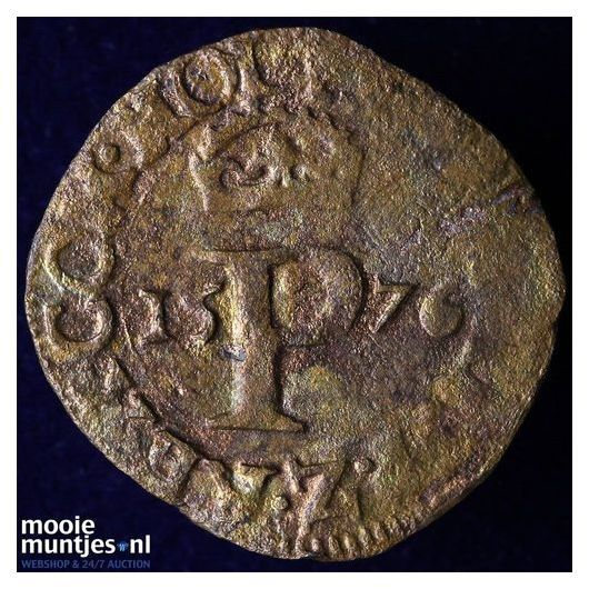 Holland - Penning of halve duit - 1576 (kant A)