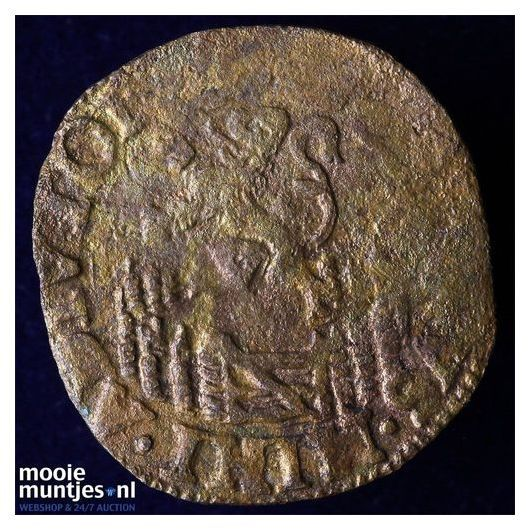 Holland - Penning of halve duit - 1576 (kant B)
