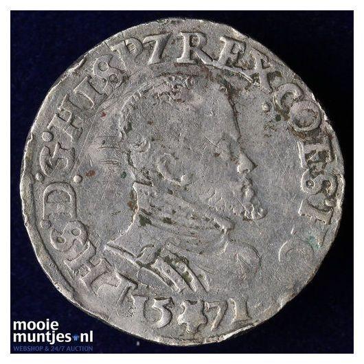 Holland - Vijfde Philipsdaalder - 1571 (kant A)