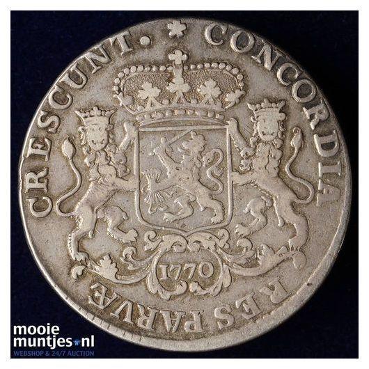 Holland - Halve zilveren rijder of halve dukaton - 1770 (kant A)