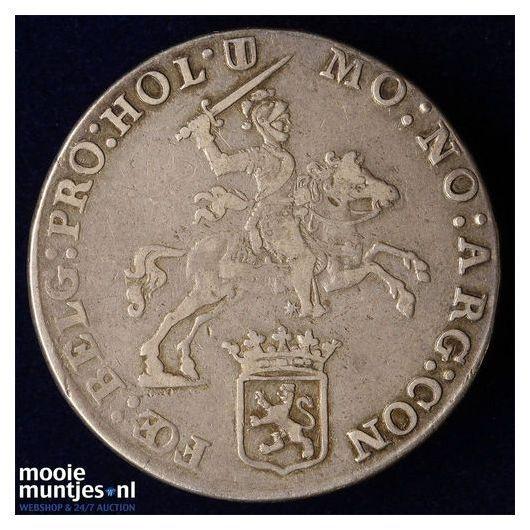 Holland - Halve zilveren rijder of halve dukaton - 1770 (kant B)