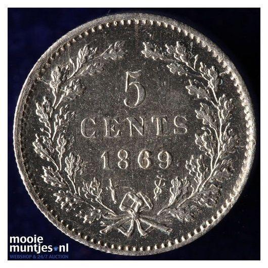 5 cent - Willem III - 1869 (kant A)