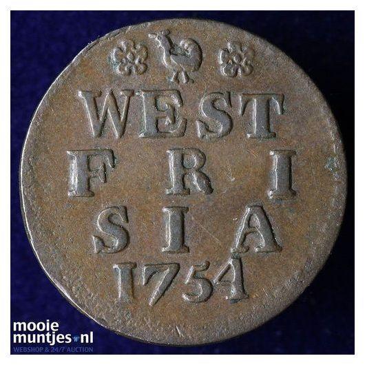 West-Friesland - Duit - 1780 (kant A)