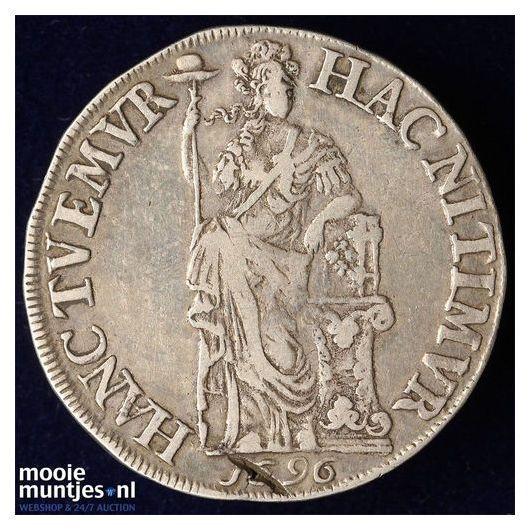 Friesland - Nederlandse halve driegulden - 1696 (kant A)